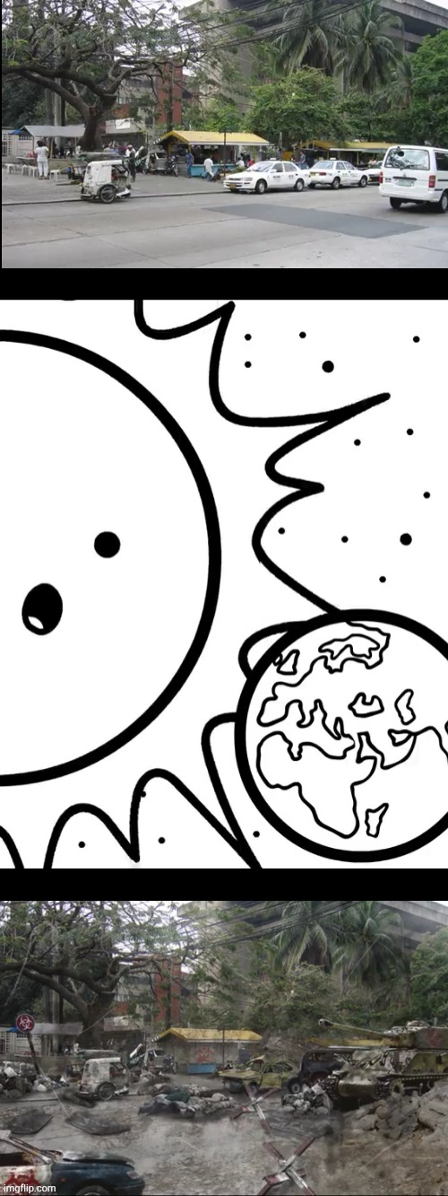 Well | image tagged in asdfmovie,sun,earth,philippines plague inc | made w/ Imgflip meme maker
