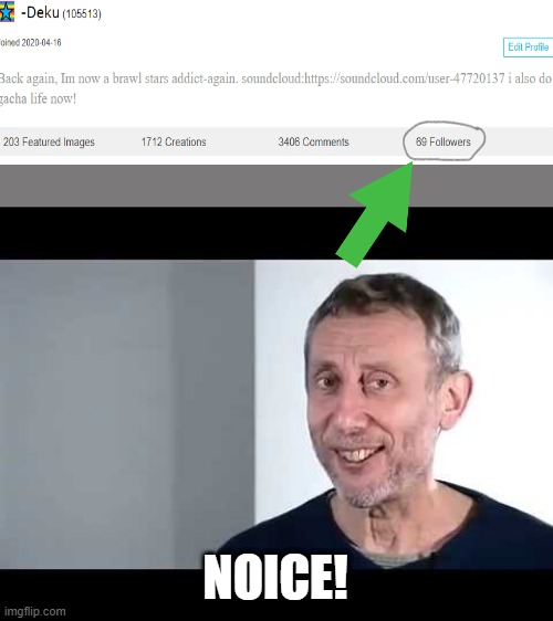 hehe, nice! Thanks for all the support guys |  NOICE! | image tagged in noice | made w/ Imgflip meme maker