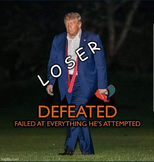 LOSER |  L O S E R | image tagged in trump,gop,maga,biggest loser | made w/ Imgflip meme maker