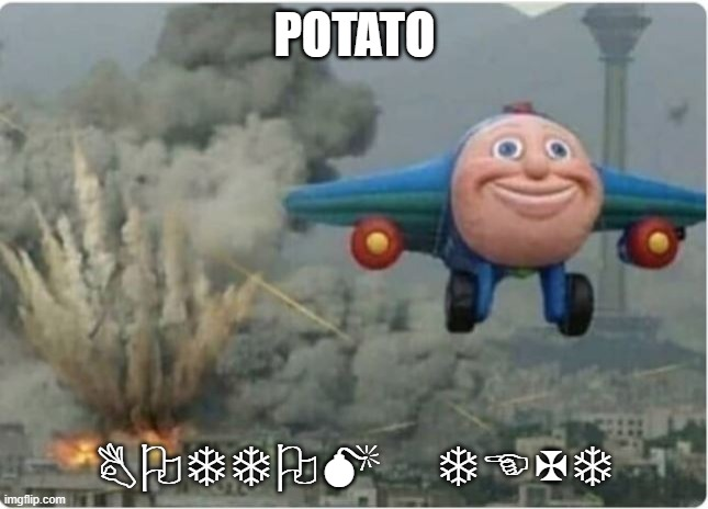 Life be like |  POTATO; BOTTOM TEXT | image tagged in flying away from chaos | made w/ Imgflip meme maker