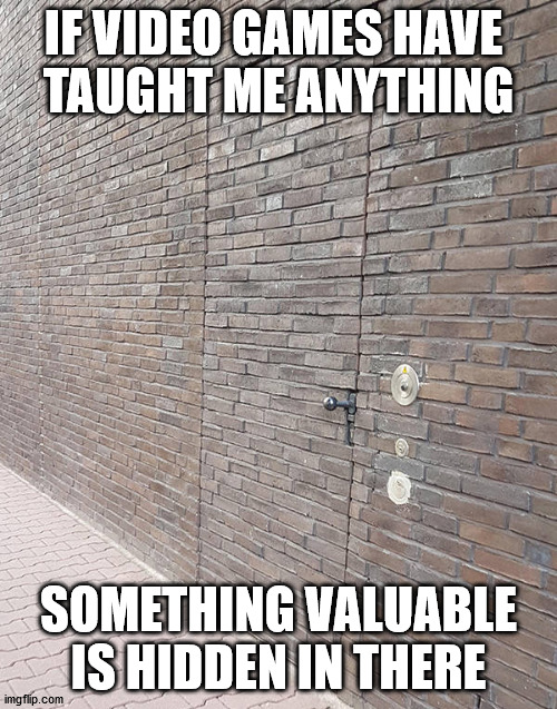 IF VIDEO GAMES HAVE  TAUGHT ME ANYTHING; SOMETHING VALUABLE IS HIDDEN IN THERE | made w/ Imgflip meme maker