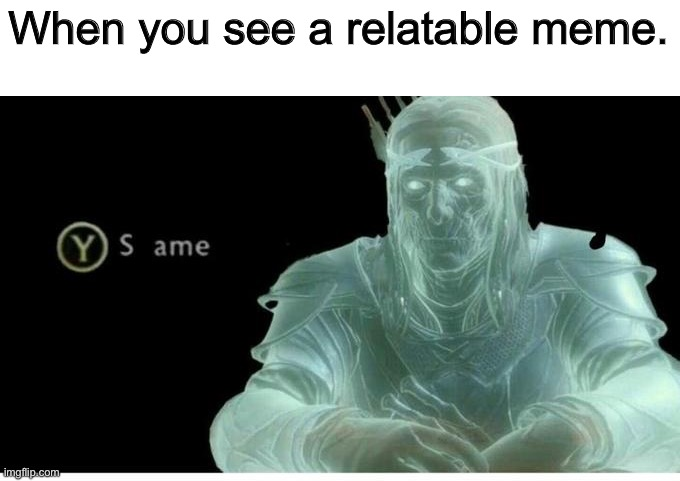 Same |  When you see a relatable meme. | image tagged in same,memes | made w/ Imgflip meme maker