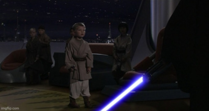 Anakin Kills Younglings | image tagged in anakin kills younglings | made w/ Imgflip meme maker