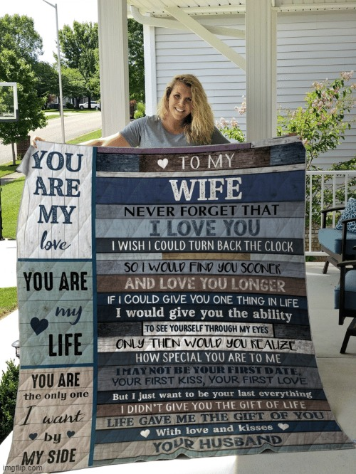 [wholesome quilt of the day] | image tagged in wife quilt,wholesome,wife,repost,relationship,marriage | made w/ Imgflip meme maker