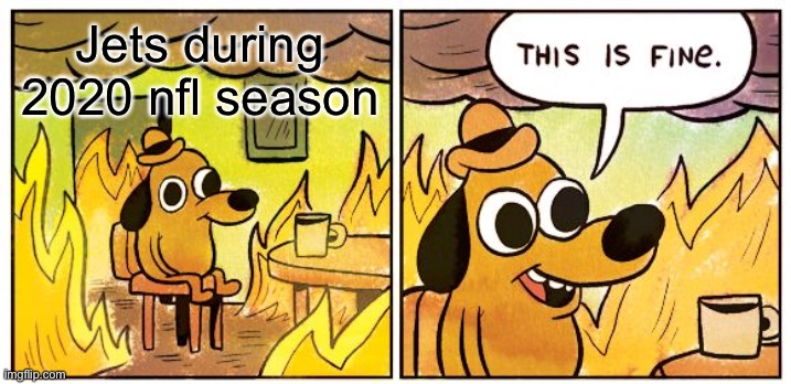 This Is Fine |  Jets during 2020 nfl season | image tagged in memes,this is fine | made w/ Imgflip meme maker
