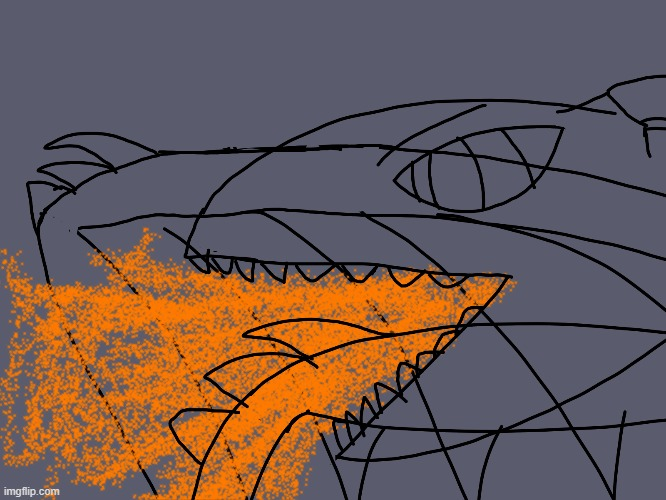 night tar rage 1 | image tagged in art,dragon,fire,rage | made w/ Imgflip meme maker