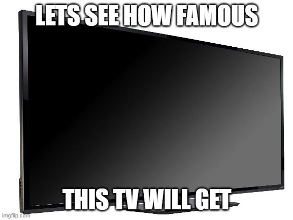 Famous TV |  LETS SEE HOW FAMOUS; THIS TV WILL GET | image tagged in tv | made w/ Imgflip meme maker