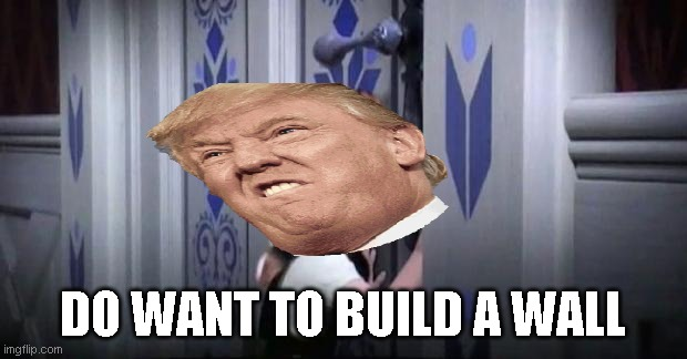 frozen little anna |  DO WANT TO BUILD A WALL | image tagged in frozen little anna | made w/ Imgflip meme maker