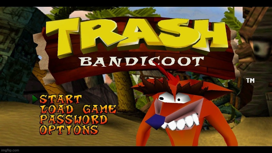 Trash Bandicoot! | image tagged in trash bandicoot | made w/ Imgflip meme maker