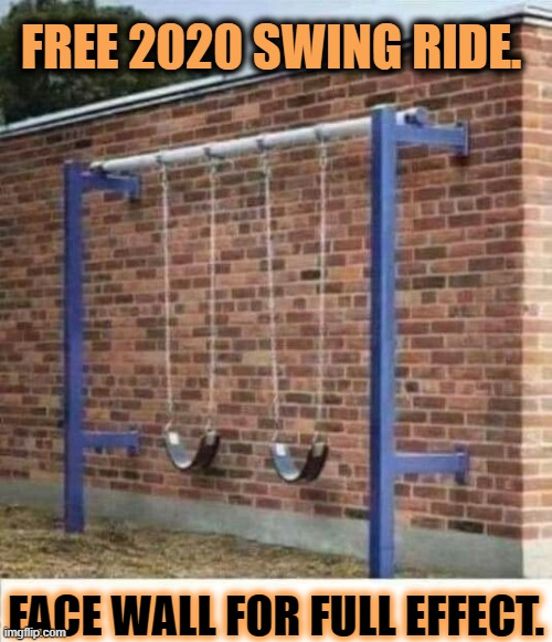 If 2020 were a Swing Set. |  FREE 2020 SWING RIDE. FACE WALL FOR FULL EFFECT. | image tagged in 2020 memes,free 2020 swing ride,face wall for full effect | made w/ Imgflip meme maker