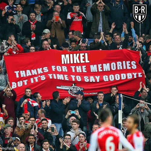 Arsenal fans |  MIKEL | image tagged in arsenal | made w/ Imgflip meme maker