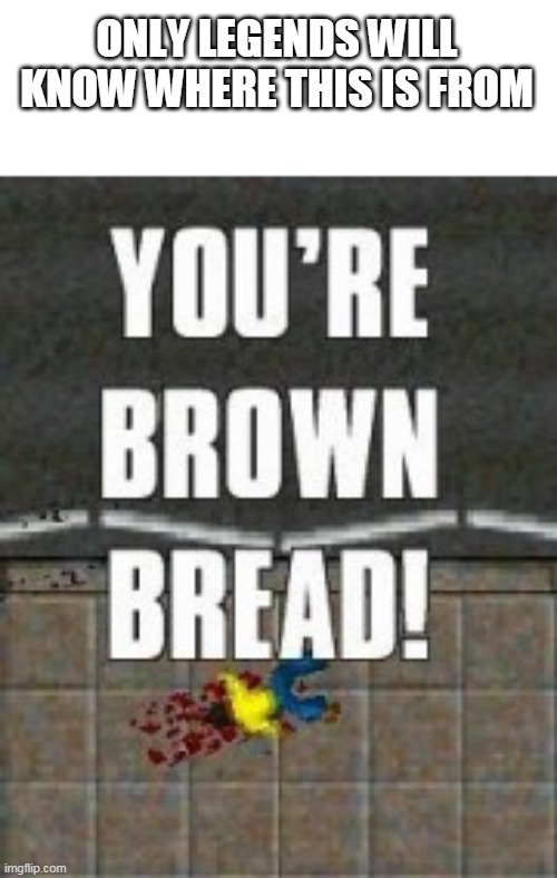 youre brown bread |  ONLY LEGENDS WILL KNOW WHERE THIS IS FROM | image tagged in memes,funny,nostalgia,legend | made w/ Imgflip meme maker