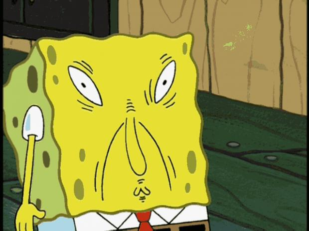 High Quality Spongebob funny face Blank Meme Template