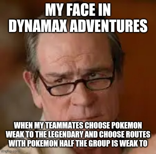 Why are you so stupid |  MY FACE IN DYNAMAX ADVENTURES; WHEN MY TEAMMATES CHOOSE POKEMON WEAK TO THE LEGENDARY AND CHOOSE ROUTES WITH POKEMON HALF THE GROUP IS WEAK TO | image tagged in my face when someone asks a stupid question,pokemon sword and shield,dynamax adventures | made w/ Imgflip meme maker