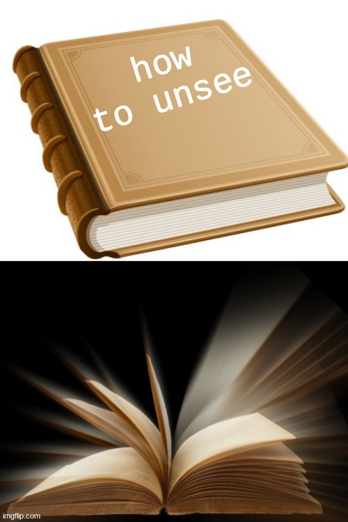 How to unsee book | image tagged in how to unsee book | made w/ Imgflip meme maker