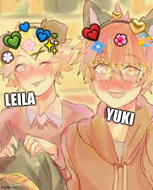 Yoosung and Seven | image tagged in mystic messenger,edits,seven,yoosung | made w/ Imgflip meme maker