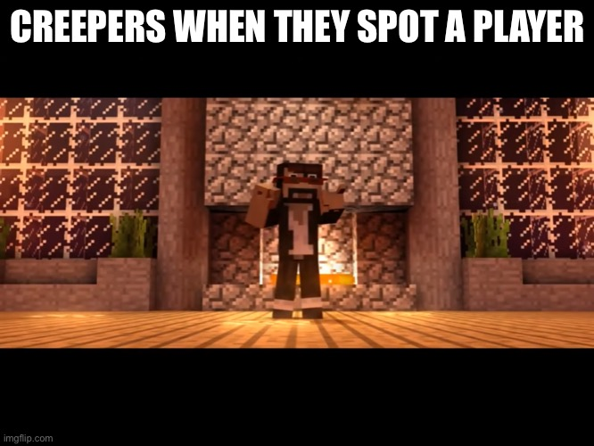I see a problem with my life |  CREEPERS WHEN THEY SPOT A PLAYER | image tagged in i see a problem with my life | made w/ Imgflip meme maker
