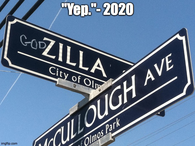 "2020 said... |  ""Yep.""- 2020 