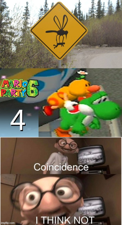 Mario Party 6 Flutter! | image tagged in coincidence i think not,funny | made w/ Imgflip meme maker