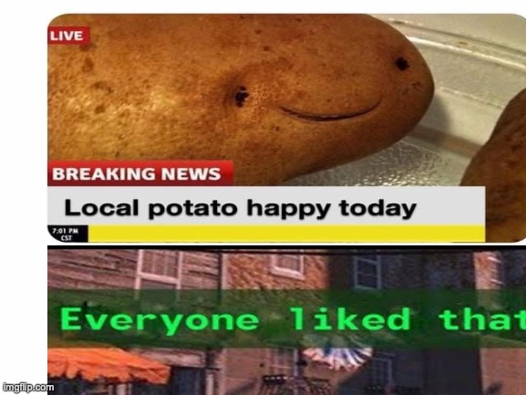 potato | image tagged in everyone liked that | made w/ Imgflip meme maker