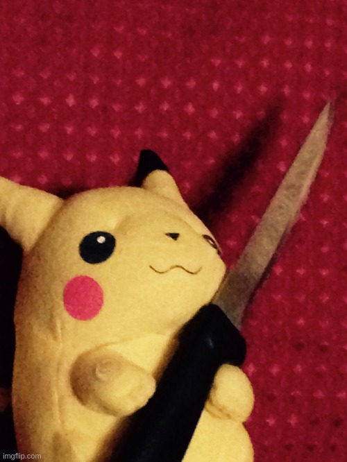 PIKACHU learned STAB! | image tagged in pikachu learned stab | made w/ Imgflip meme maker