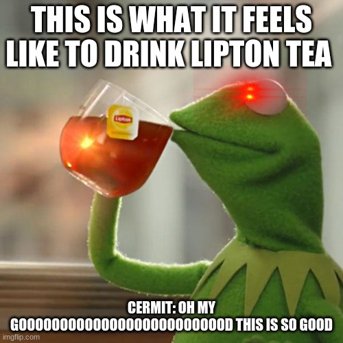 But That's None Of My Business Meme |  THIS IS WHAT IT FEELS LIKE TO DRINK LIPTON TEA; CERMIT: OH MY GOOOOOOOOOOOOOOOOOOOOOOOOOD THIS IS SO GOOD | image tagged in memes,but that's none of my business,kermit the frog | made w/ Imgflip meme maker