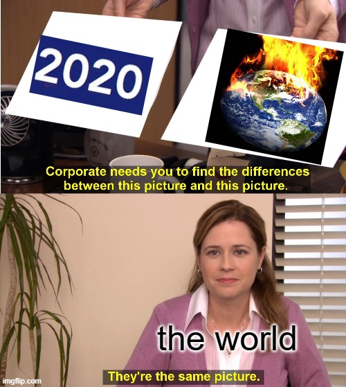 They're The Same Picture Meme |  the world | image tagged in memes,they're the same picture | made w/ Imgflip meme maker