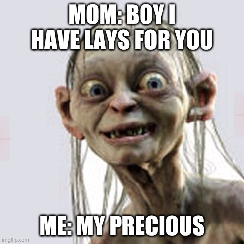 MOM: BOY I HAVE LAYS FOR YOU; ME: MY PRECIOUS | image tagged in my precious diploma | made w/ Imgflip meme maker