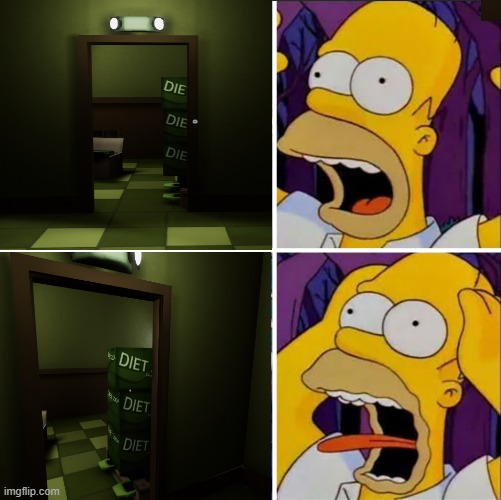 superliminal horror | image tagged in homer diet | made w/ Imgflip meme maker