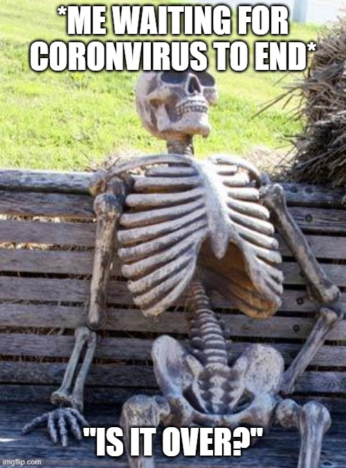 "SkElLy BoI |  *ME WAITING FOR CORONVIRUS TO END*; ""IS IT OVER?"" 