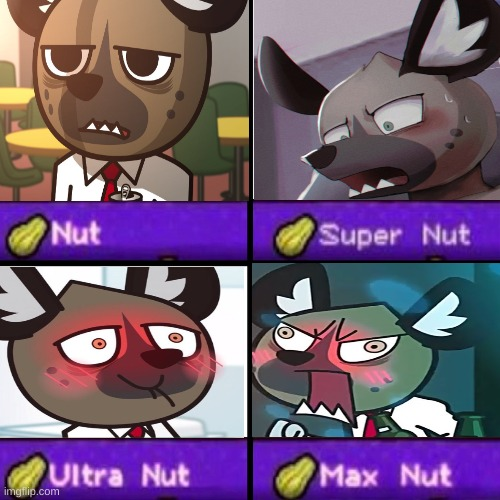 expressions of nut from a hyena man | image tagged in nut chart | made w/ Imgflip meme maker