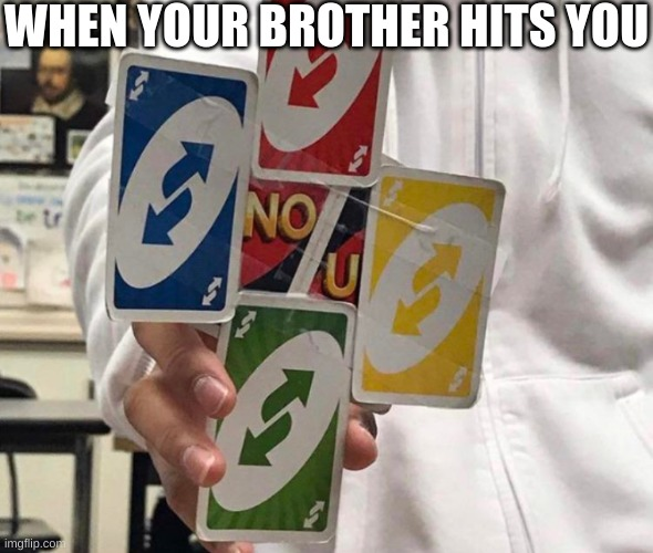 Bruh |  WHEN YOUR BROTHER HITS YOU | image tagged in bruh | made w/ Imgflip meme maker