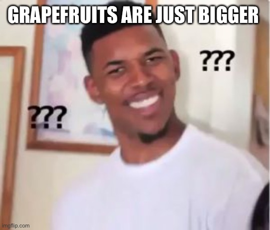 Nick Young | GRAPEFRUITS ARE JUST BIGGER | image tagged in nick young | made w/ Imgflip meme maker
