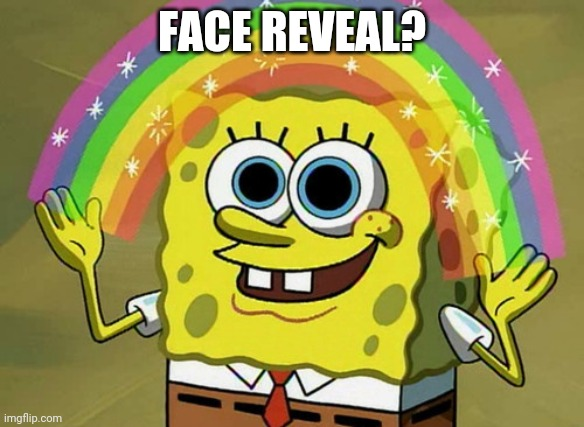 y or n |  FACE REVEAL? | image tagged in memes,imagination spongebob | made w/ Imgflip meme maker
