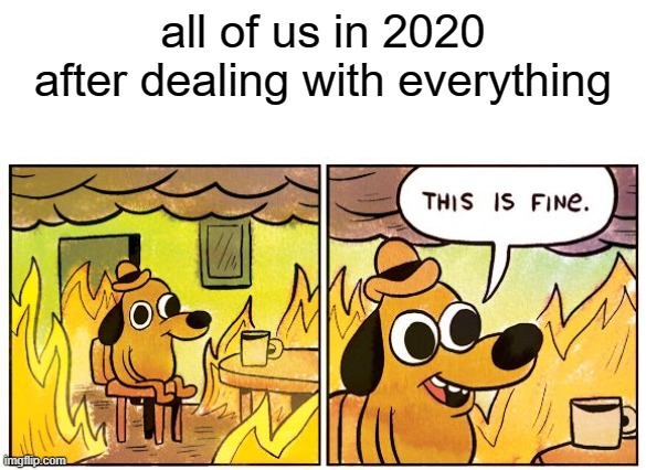 we simply dont care anymore! |  all of us in 2020 after dealing with everything | image tagged in memes,this is fine | made w/ Imgflip meme maker