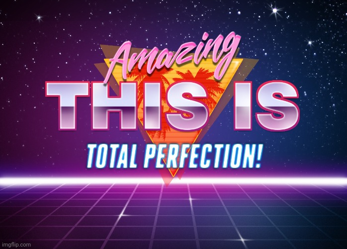 Amazing, This is total Perfection!! | image tagged in amazing this is total perfection | made w/ Imgflip meme maker