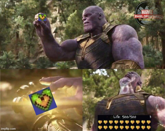 I couldnt find a Life 450/450 | image tagged in thanos mind stone | made w/ Imgflip meme maker