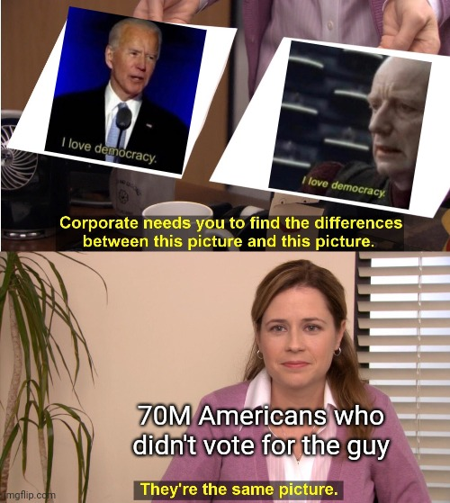 """And don't forget, he's a politician, and they're *not* to be trusted"" 
