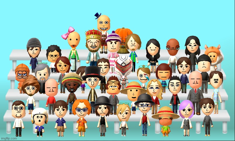me and da mii's | image tagged in me and da mii's | made w/ Imgflip meme maker