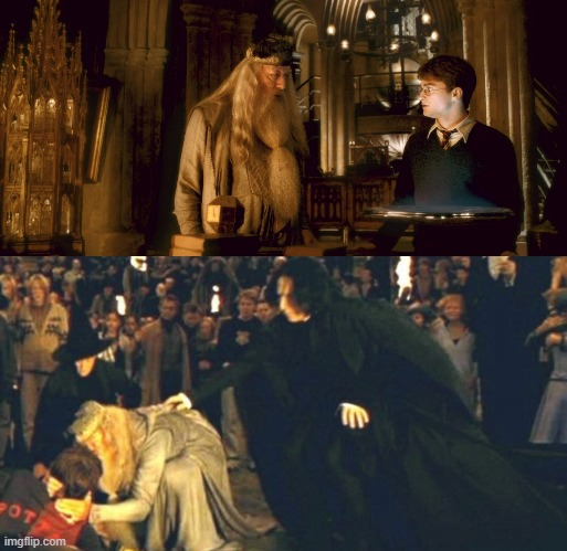 Dumbledore wants to kill Harry | image tagged in memes,harry potter | made w/ Imgflip meme maker