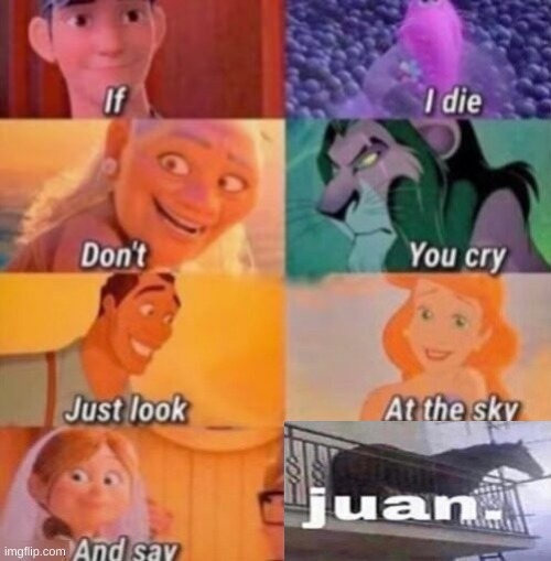 JUAN. | image tagged in if i die,juan,memes | made w/ Imgflip meme maker
