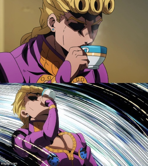 Giorno Sips Tea | image tagged in giorno sips tea | made w/ Imgflip meme maker
