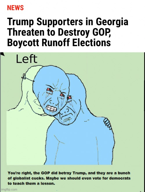 Trump or bust | image tagged in trump or bust,georgia runoffs,gop,trump,vote ossoff and warnock | made w/ Imgflip meme maker