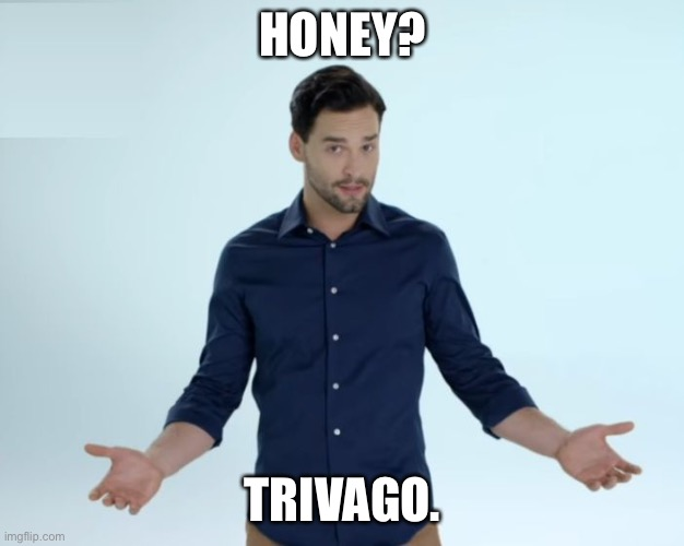 Hotel? Trivago | HONEY? TRIVAGO. | image tagged in hotel trivago | made w/ Imgflip meme maker