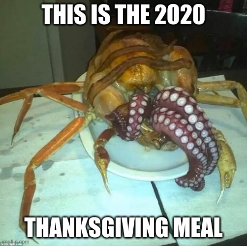 deesgusting |  THIS IS THE 2020; THANKSGIVING MEAL | image tagged in thanksgiving,2020 | made w/ Imgflip meme maker