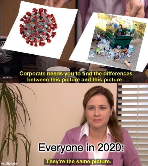 Who else can relate? |  Everyone in 2020: | image tagged in memes,they're the same picture,2020,covid-19,garbage | made w/ Imgflip meme maker