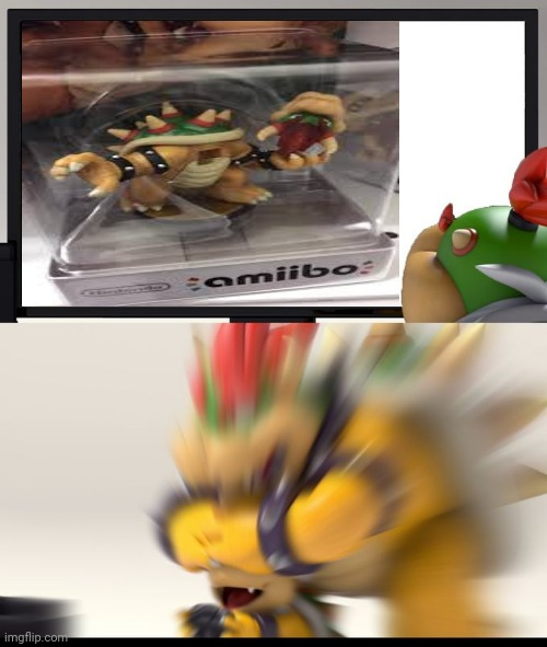 Bowser | image tagged in bowser block,amiibo,cursed image,gaming,memes,bowser | made w/ Imgflip meme maker