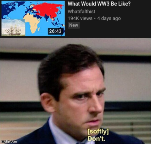 Please No | image tagged in michael scott don't softly | made w/ Imgflip meme maker