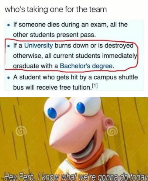 yes | image tagged in hey ferb,fire,school,collage,memes | made w/ Imgflip meme maker
