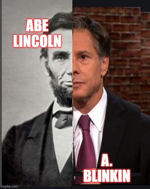 Lincoln Blinkin and odd. |  ABE LINCOLN; A. BLINKIN | image tagged in joe biden,government,american politics,political correctness,kamala harris | made w/ Imgflip meme maker